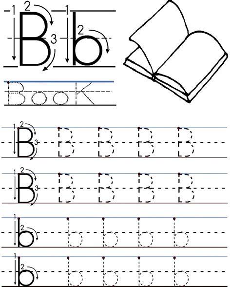 printable letter b worksheets for preschool kindergarten