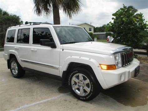 used jeep commander sell used 2007 jeep commander overland loaded 4x4 white