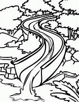 Coloring Water Slide Pages Popular sketch template