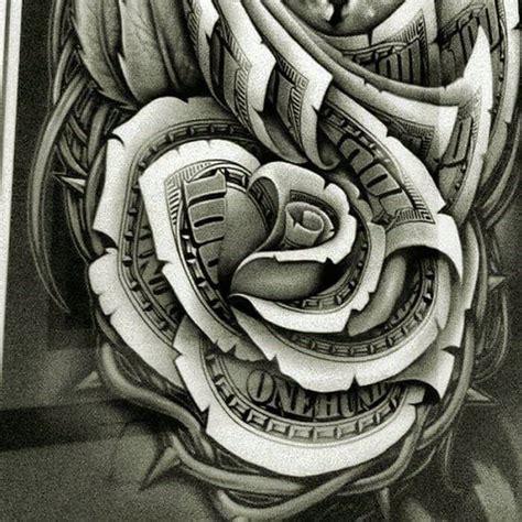 pin  george santiago  money roses tattoo vorlagen
