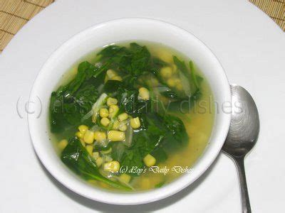 clear spinach soup called sayur bayam in bahasa indonesia i used to resent this