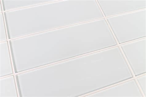 snow white 4x12 glass subway tiles rocky point tile glass tile and glass mosaic tile