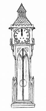 Clock Grandfather Coloring Pages Gothic Clocks Expensive Sheets Colorluna Visit Goth sketch template