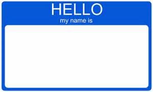 Hello My Name Is Tags Printable