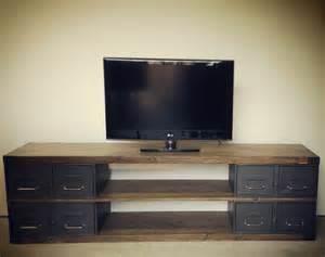 industriel meuble tv m 233 tal et bois tiroirs