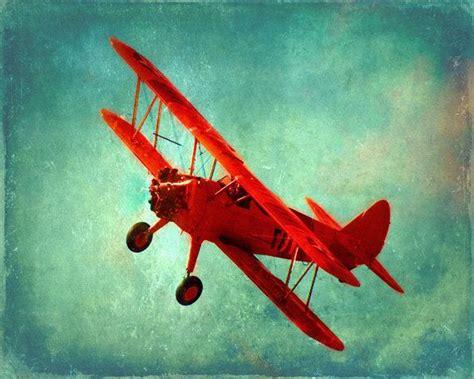 vintage airplane art print home decor photograph