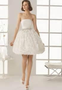 Cute White Short Wedding Dresses