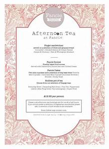 afternoon tea menu fancie sheffield tea rooms With afternoon tea menu template