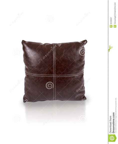 brown leather cushion stock photo image 39183597