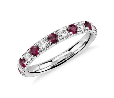 riviera pav 233 ruby and ring in platinum 2 2mm blue nile