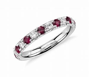 ruby eternity diamond rings wedding promise diamond With diamond and ruby wedding rings