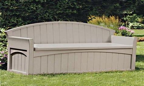 garden storage buildings suncast patio storage bench