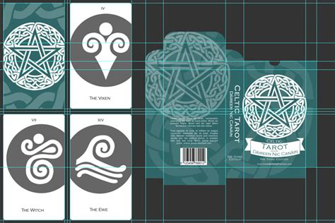 tarot card tuck box mockup cover actions premium