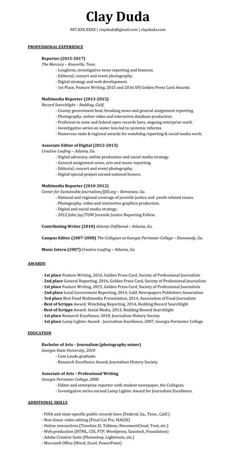 How To List Awards On Resume by Resume Clay Duda