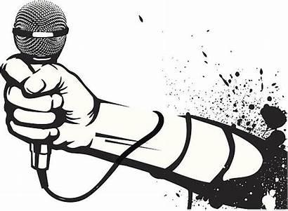 Rap Clip Clipart Trap Vector Microphone Illustrations