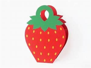 Geschenkverpackung Basteln Vorlage : erdbeer tasche als geschenkverpackung basteln ~ Lizthompson.info Haus und Dekorationen