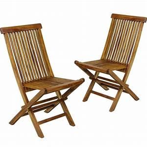Chaise Teck Jardin : mobilier de jardin en teck salon 2 places table 2 chaises en teck ~ Teatrodelosmanantiales.com Idées de Décoration