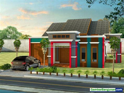 rumah minimalis  lantai teras depan samping kedai