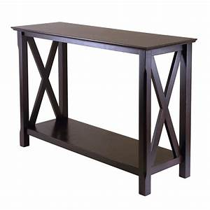 Winsome wood 40445 xola console entry table lowe39s canada for Entrance console table furniture
