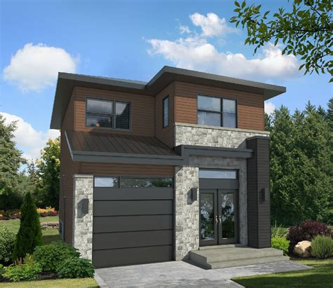 compact  story contemporary house plan pm architectural designs house plans
