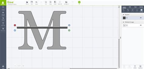 split level monogram  cricut design space