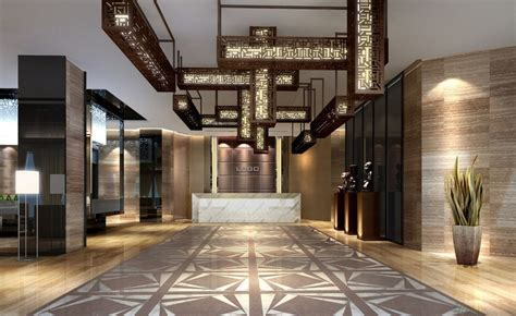 Strange Droplight Lobby Hotel Interior Design - DMA Homes