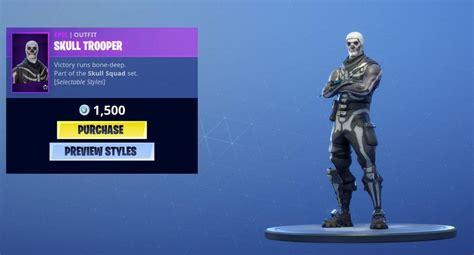 fortnite welcomes  rare skull trooper skin