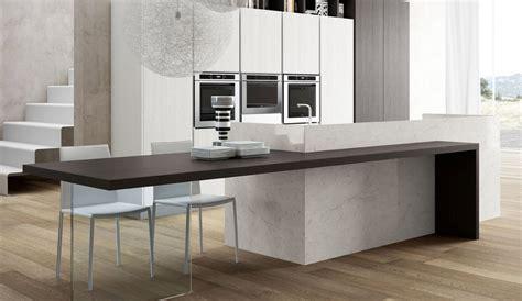 formas de incorporar una mesa en la cocina cocinas