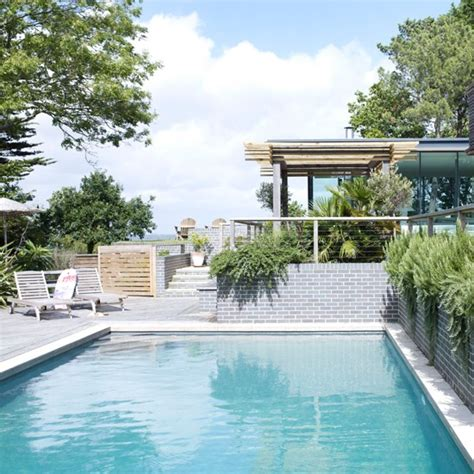 swimming pool with garden garden terrace with swimming pool housetohome co uk