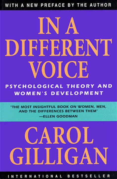 personality theories carol gilligan books