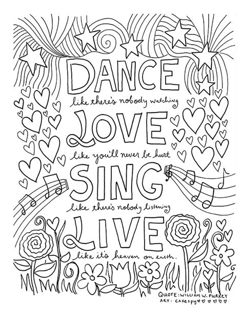 coloring book pages  grown ups inspiring quotes