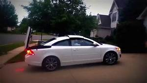 Volvo C70 Convertible Top In Action YouTube