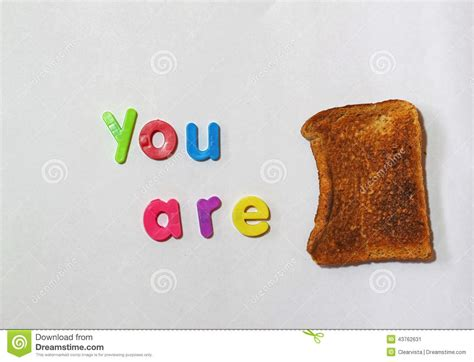 You Are Toast, Or Finished Or In Trouble. Metaphor. Stock