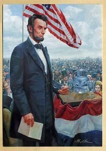 "Mort Kunstler Civil War Pres. Abraham Lincoln ""Gettysburg ..."