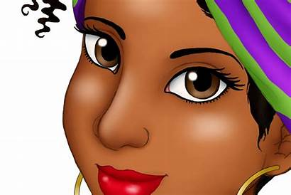 African Clipart Woman American Head Headwrap Afro