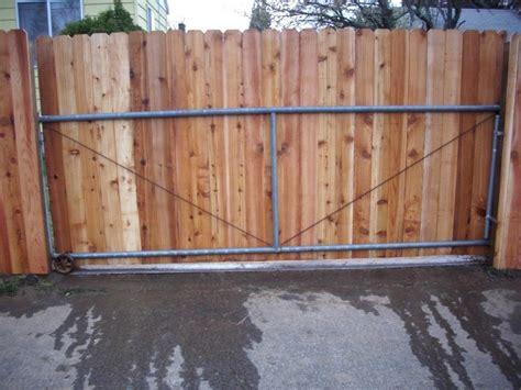 Sliding Dog Ear Gate And Fence Sliding Dog Ear Gate Deck