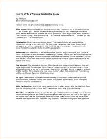 How To Write An Objective For A Scholarship Resume by Scholarship Essay Layout