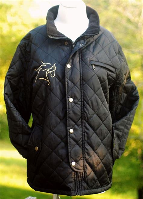 dream horse embroidered  sided ladies quilted barn jacket