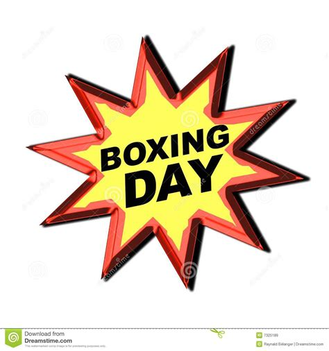 boxing day boxing day sign stock illustration image of yellow decal 7325189