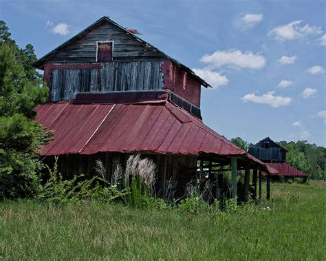 Two Tobacco Barns Photograph By Sandra Anderson