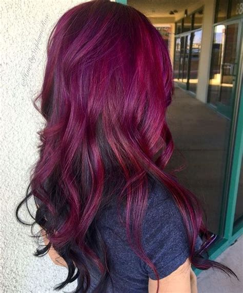 picture  ombre hair  magenta  merlot colors