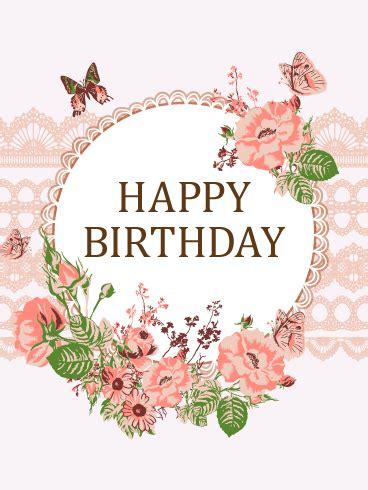 luxurious flower butterfly birthday card birthday