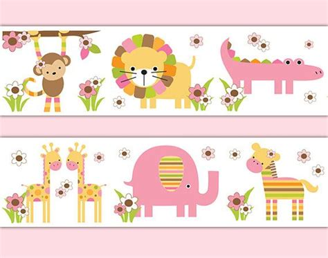 Safari Animal Wallpaper Borders - safari animals wallpaper border wall decals for baby