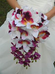 Orchid Bouquet Cascade SALE purple plum lavender white