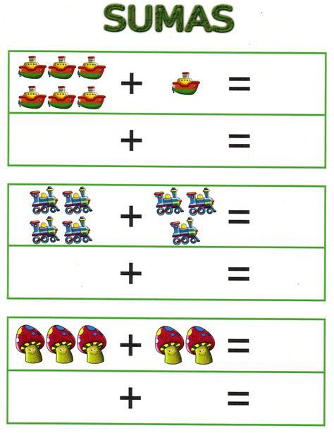 Fichas de sumas para Infantil