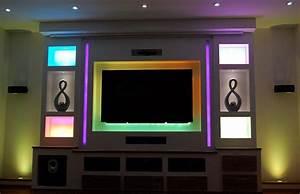 Tv Wand Selber Bauen Rigips : tv wand mit kino feeling selber machen heimwerkermagazin ~ One.caynefoto.club Haus und Dekorationen