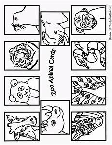 Free coloring pages of zoo animals cutouts