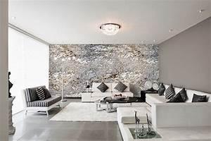 Moderne Tapeten Wohnzimmer : 1001 id es salon design 80 id es de s jours all inclusive ~ Markanthonyermac.com Haus und Dekorationen