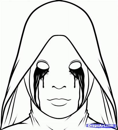 Horror Draw Drawing Story American Coloring Pages