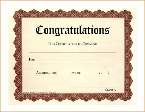 congratulations certificate templates congratulations award bing images